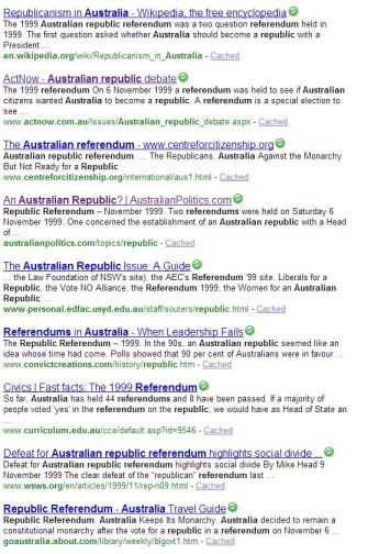 Sites devoted to the Republic question