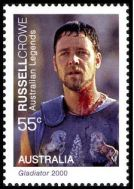 Russell Crowe on an AUSTRALIAN stamp