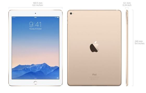 iPad 2 Air (Source: Apple.com.au