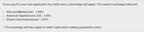 Payment Method Charges