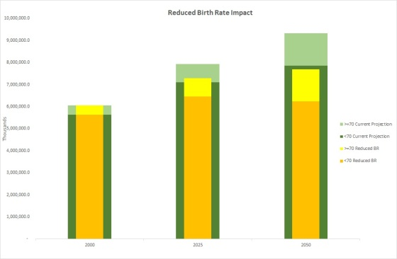 Reduced Birth Rate Impact
