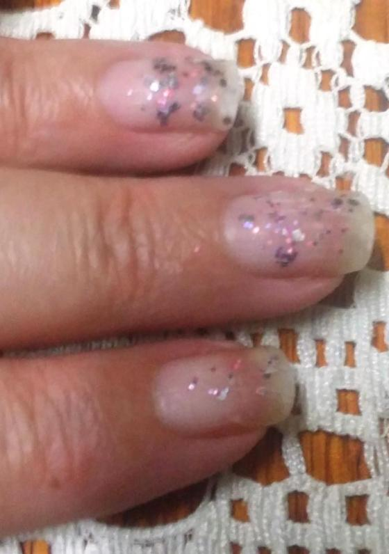 Polish gone, sparkles remain